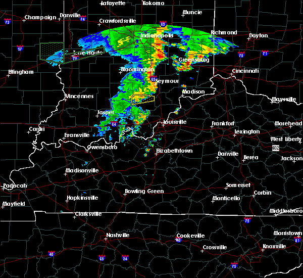 Radar Image for Severe Thunderstorms near Campbellsburg, IN at 7/13/2016 9:04 PM EDT