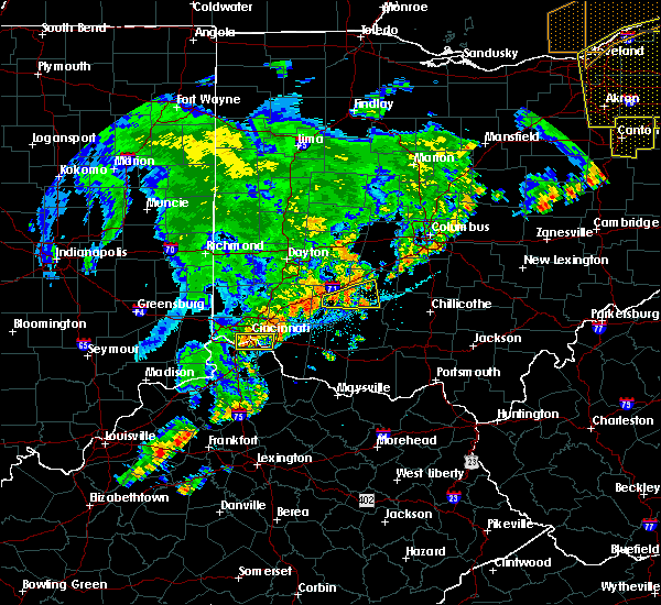 Radar Image for Severe Thunderstorms near Cincinnati, OH at 7/13/2016 10:49 PM EDT