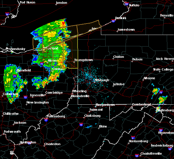 Radar Image for Severe Thunderstorms near Cortland, OH at 7/13/2016 11:10 PM EDT