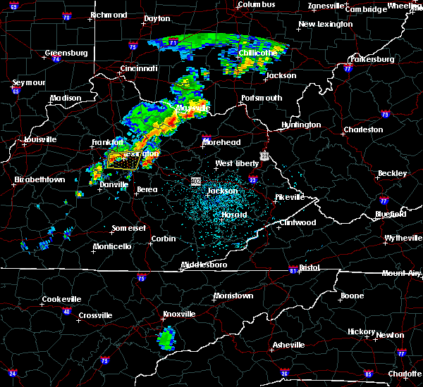 Radar Image for Severe Thunderstorms near Nicholasville, KY at 7/14/2016 12:11 AM EDT
