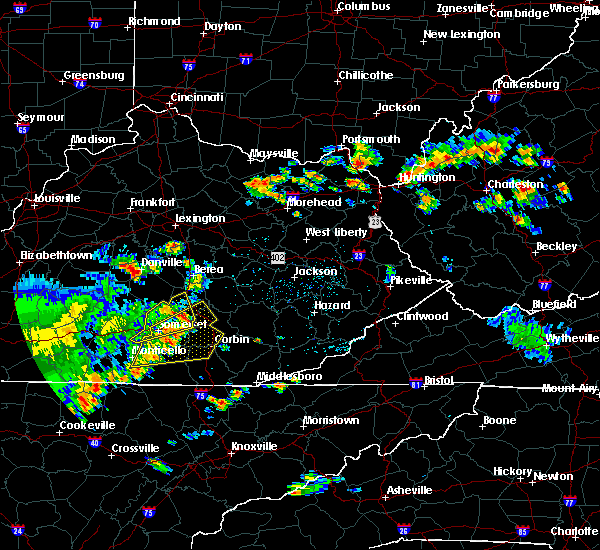 Radar Image for Severe Thunderstorms near Burnside, KY at 7/14/2016 3:20 PM EDT