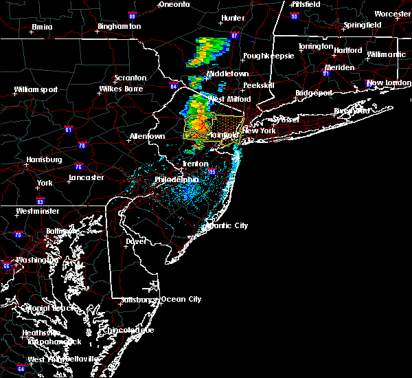 Radar Image for Severe Thunderstorms near Paterson, NJ at 7/14/2016 3:38 PM EDT