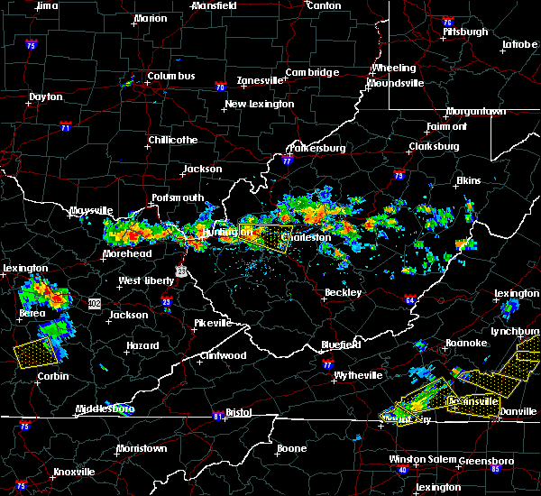 Radar Image for Severe Thunderstorms near Huntington, WV at 7/14/2016 4:07 PM EDT