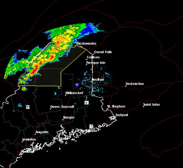 Radar Image for Severe Thunderstorms near Eagle Lake, ME at 7/14/2016 4:26 PM EDT