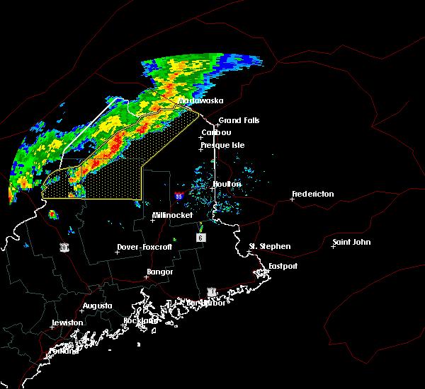 Radar Image for Severe Thunderstorms near Eagle Lake, ME at 7/14/2016 4:55 PM EDT