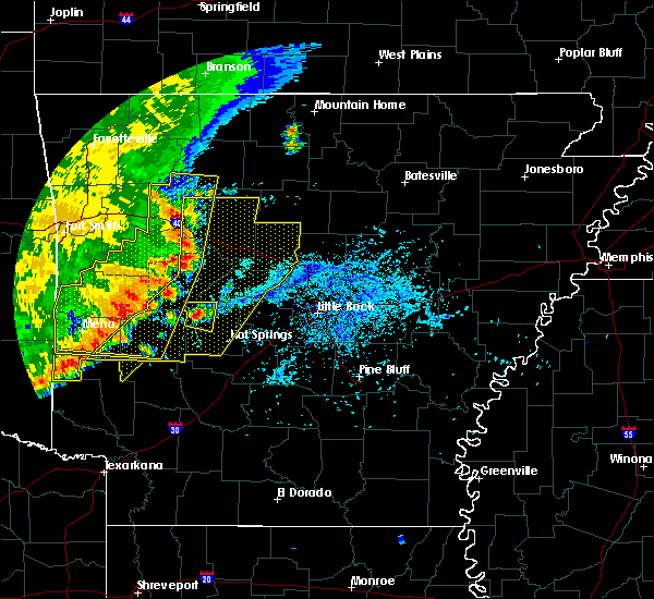 Radar Image for Severe Thunderstorms near Ola, AR at 7/14/2016 4:33 PM CDT
