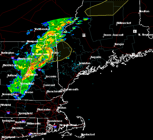 Radar Image for Severe Thunderstorms near Berlin, NH at 7/14/2016 5:52 PM EDT