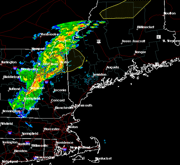 Radar Image for Severe Thunderstorms near Berlin, NH at 7/14/2016 5:55 PM EDT