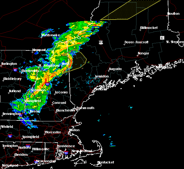 Radar Image for Severe Thunderstorms near Rumford, ME at 7/14/2016 6:14 PM EDT