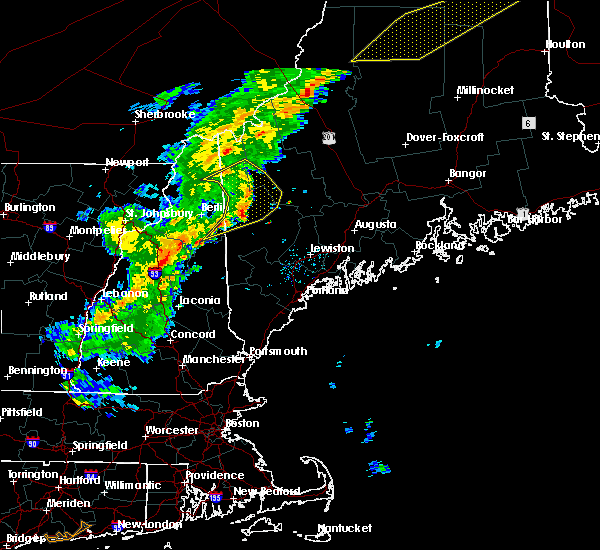 Radar Image for Severe Thunderstorms near Rumford, ME at 7/14/2016 6:29 PM EDT