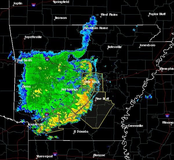 Radar Image for Severe Thunderstorms near Fordyce, AR at 7/14/2016 6:37 PM CDT