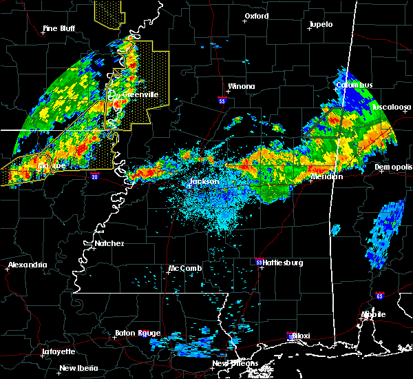 Radar Image for Severe Thunderstorms near Inverness, MS at 7/14/2016 8:33 PM CDT