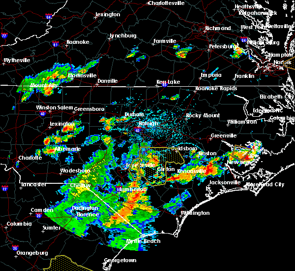 Radar Image for Severe Thunderstorms near Falcon, NC at 7/15/2016 4:35 PM EDT