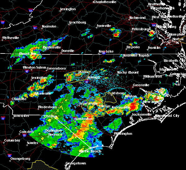 Radar Image for Severe Thunderstorms near Falcon, NC at 7/15/2016 4:42 PM EDT