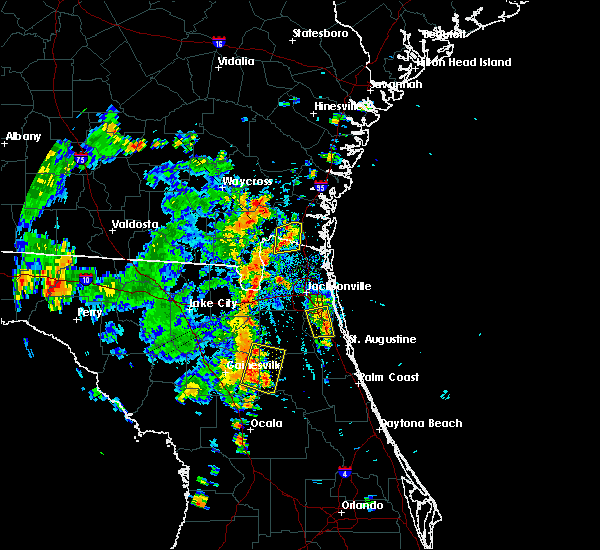 Radar Image for Severe Thunderstorms near Keystone Heights, FL at 7/15/2016 4:45 PM EDT
