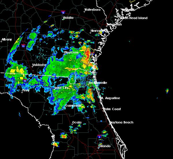 Radar Image for Severe Thunderstorms near Dock Junction, GA at 7/15/2016 6:05 PM EDT