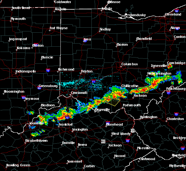 Radar Image for Severe Thunderstorms near Otway, OH at 7/15/2016 6:05 PM EDT