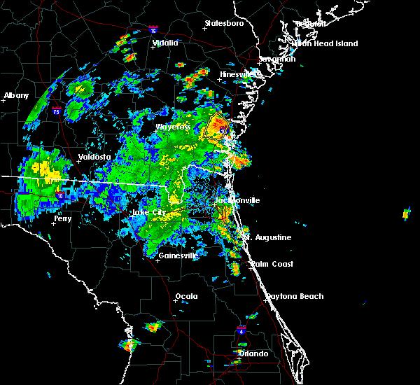 Radar Image for Severe Thunderstorms near Dock Junction, GA at 7/15/2016 6:26 PM EDT