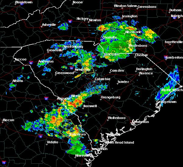 Radar Image for Severe Thunderstorms near Winnsboro, SC at 7/15/2016 8:34 PM EDT