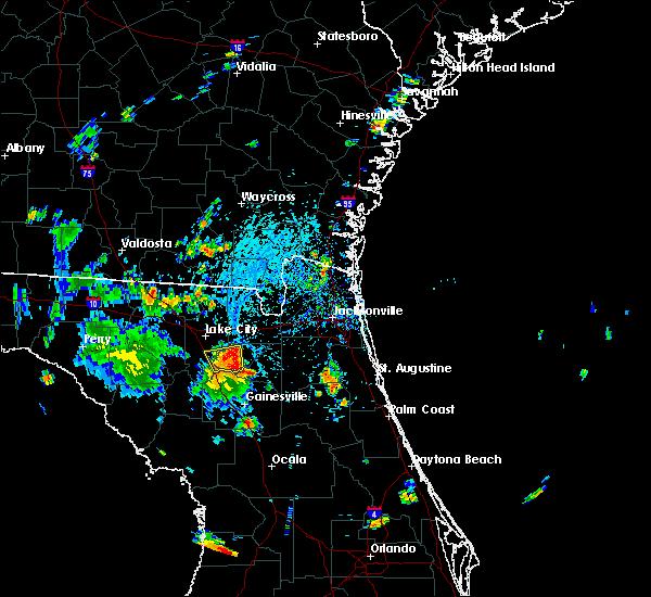 Radar Image for Severe Thunderstorms near Lake City, FL at 7/16/2016 4:19 PM EDT