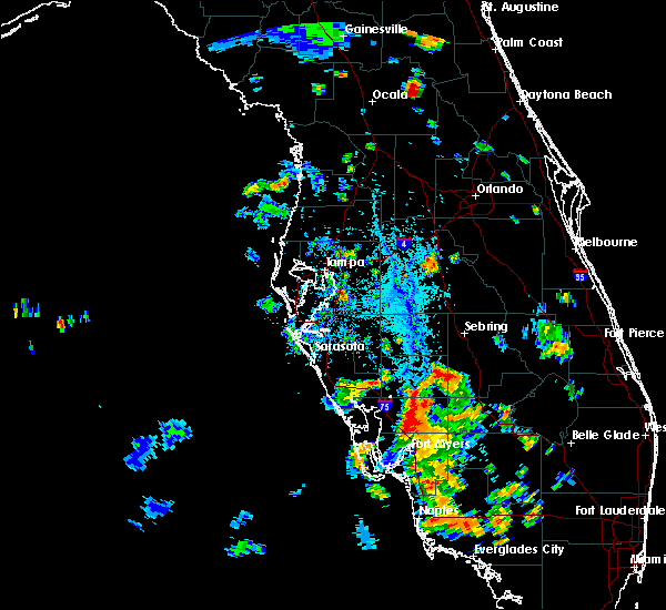 Radar Image for Severe Thunderstorms near Southeast Arcadia, FL at 7/16/2016 5:07 PM EDT