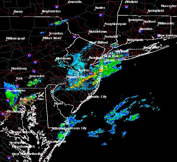 Radar Image for Severe Thunderstorms near Pemberton, NJ at 7/16/2016 5:25 PM EDT