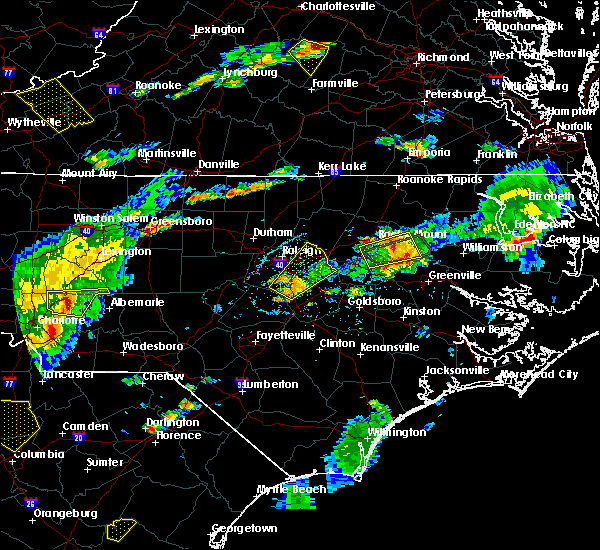 Radar Image for Severe Thunderstorms near Halifax, NC at 7/16/2016 6:03 PM EDT