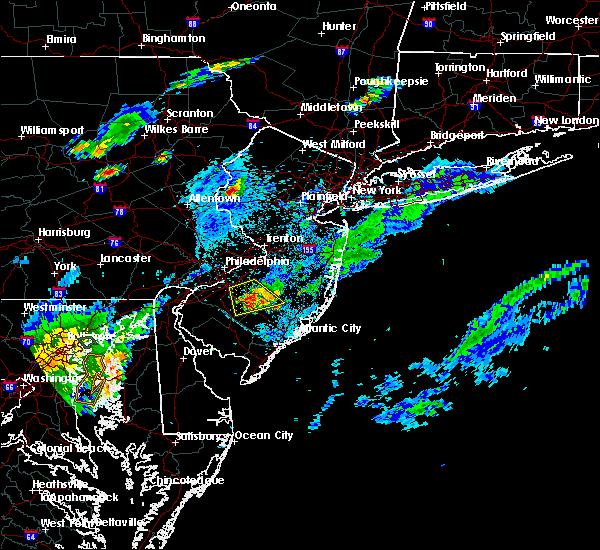 Radar Image for Severe Thunderstorms near Turnersville, NJ at 7/16/2016 7:19 PM EDT
