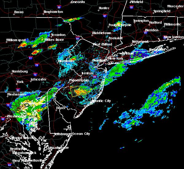 Radar Image for Severe Thunderstorms near Turnersville, NJ at 7/16/2016 7:38 PM EDT
