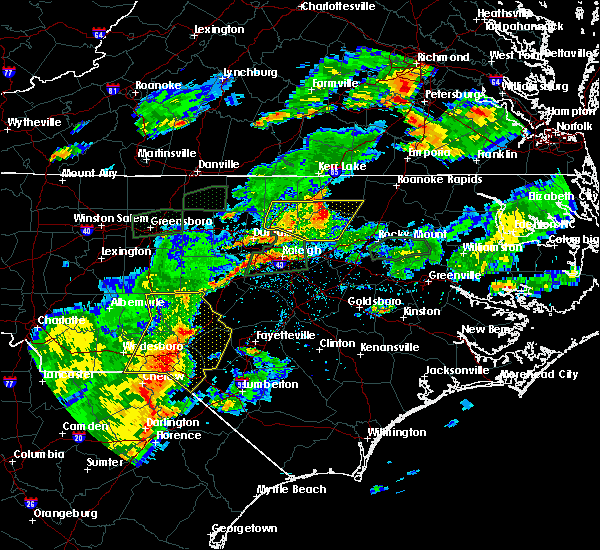 Radar Image for Severe Thunderstorms near Kittrell, NC at 7/16/2016 8:24 PM EDT