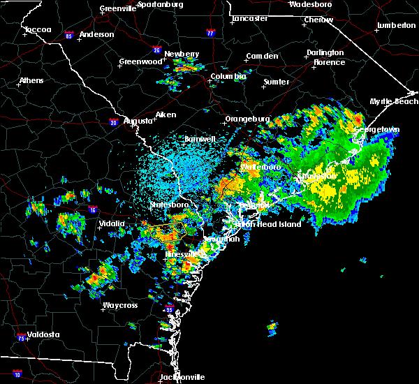 Radar Image for Severe Thunderstorms near Pembroke, GA at 7/17/2016 3:07 PM EDT