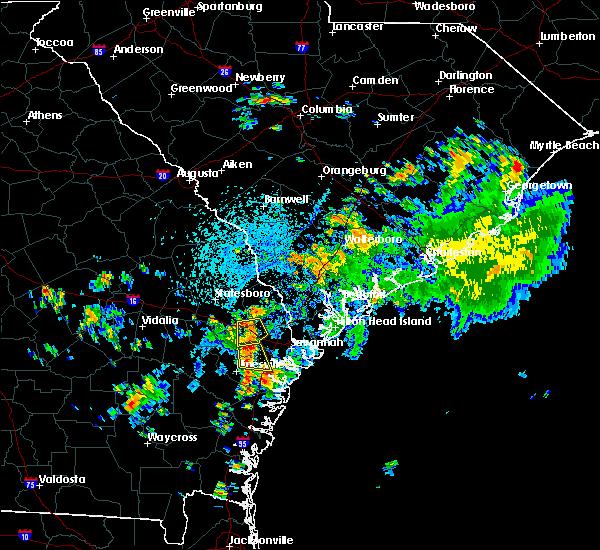 Radar Image for Severe Thunderstorms near Pembroke, GA at 7/17/2016 3:20 PM EDT