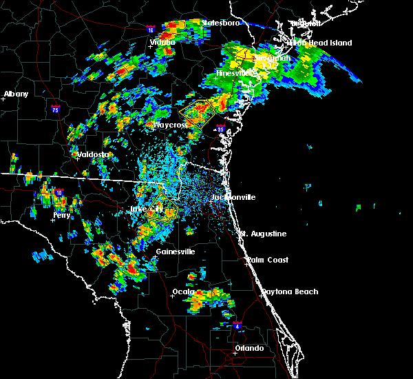 Radar Image for Severe Thunderstorms near Glen St. Mary, FL at 7/17/2016 4:59 PM EDT
