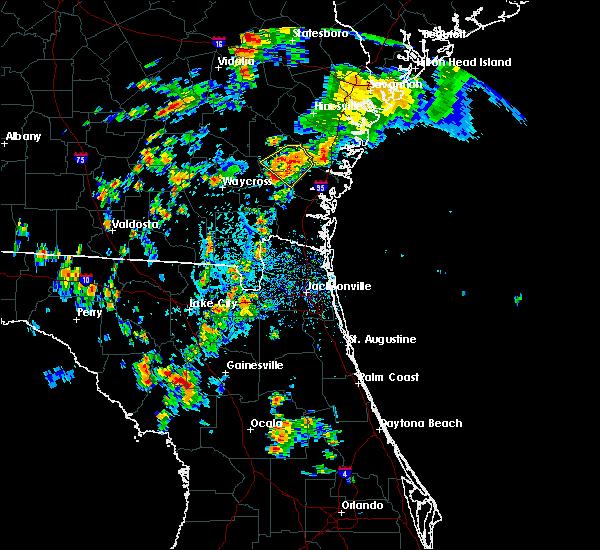 Radar Image for Severe Thunderstorms near Nahunta, GA at 7/17/2016 5:11 PM EDT