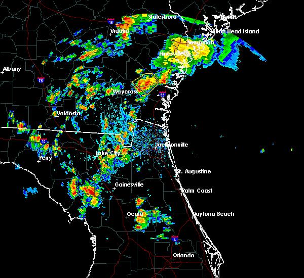 Radar Image for Severe Thunderstorms near Nahunta, GA at 7/17/2016 5:14 PM EDT