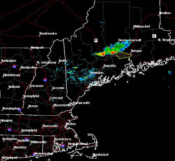 Radar Image for Severe Thunderstorms near Newport, ME at 7/17/2016 5:39 PM EDT