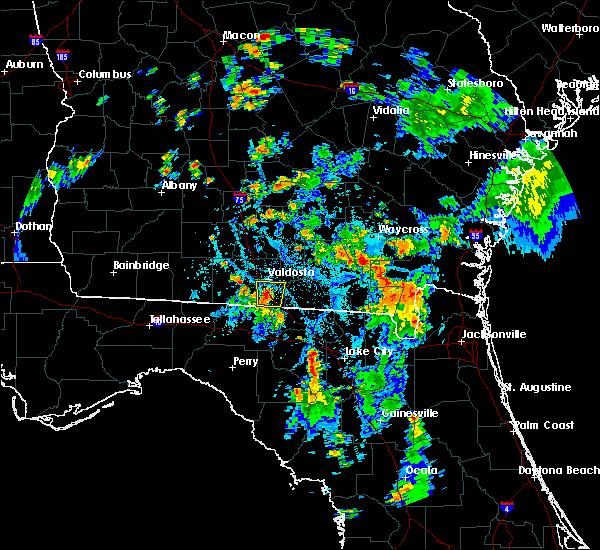 Radar Image for Severe Thunderstorms near Live Oak, FL at 7/17/2016 6:37 PM EDT