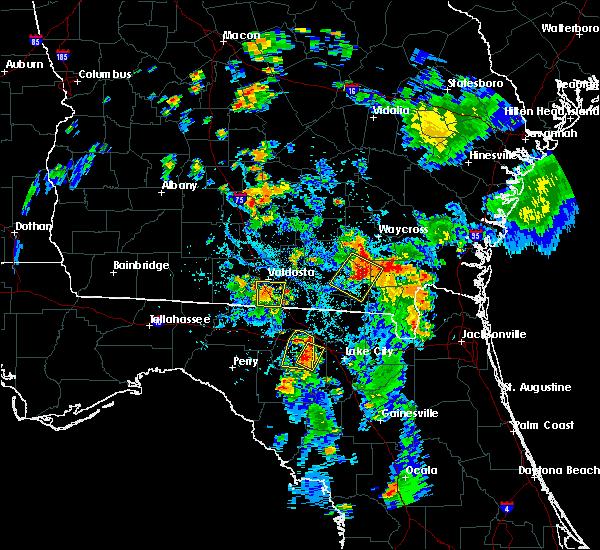 Radar Image for Severe Thunderstorms near Live Oak, FL at 7/17/2016 7:02 PM EDT