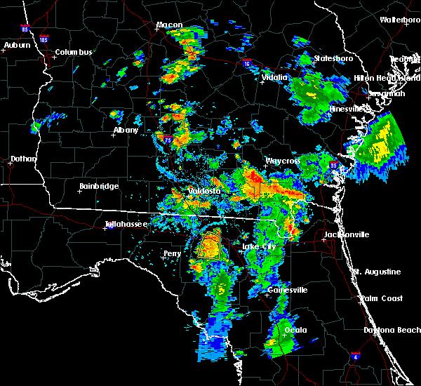 Radar Image for Severe Thunderstorms near Live Oak, FL at 7/17/2016 7:23 PM EDT