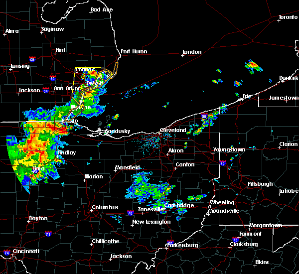 Radar Image for Severe Thunderstorms near Toledo, OH at 7/18/2016 4:05 AM EDT