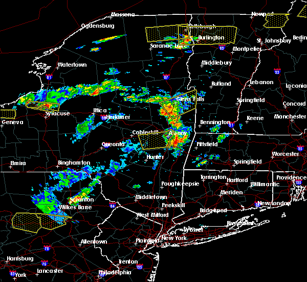 Radar Image for Severe Thunderstorms near Valatie, NY at 7/18/2016 1:10 PM EDT