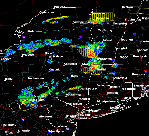 Radar Image for Severe Thunderstorms near Salem, NY at 7/18/2016 1:33 PM EDT