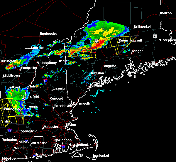 Radar Image for Severe Thunderstorms near Milo, ME at 7/18/2016 2:09 PM EDT