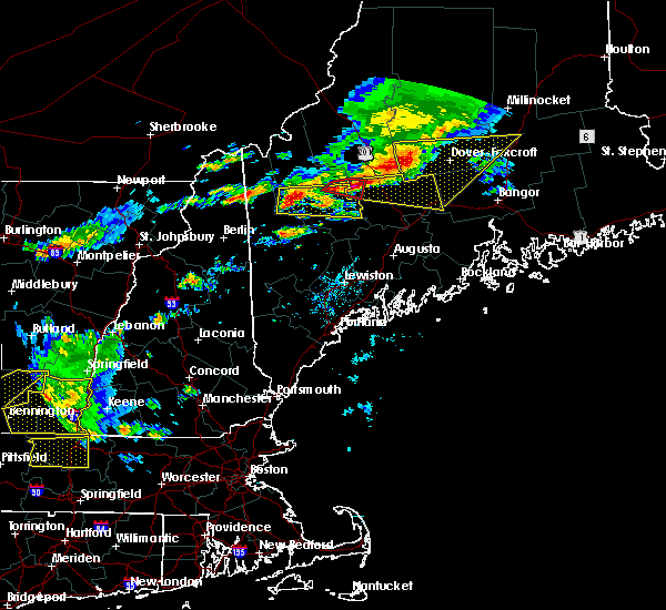 Radar Image for Severe Thunderstorms near Hartland, ME at 7/18/2016 2:16 PM EDT