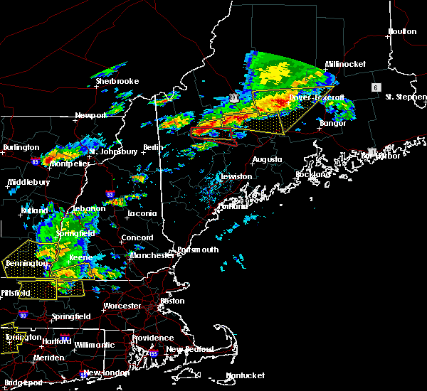 Radar Image for Severe Thunderstorms near Hartland, ME at 7/18/2016 2:35 PM EDT