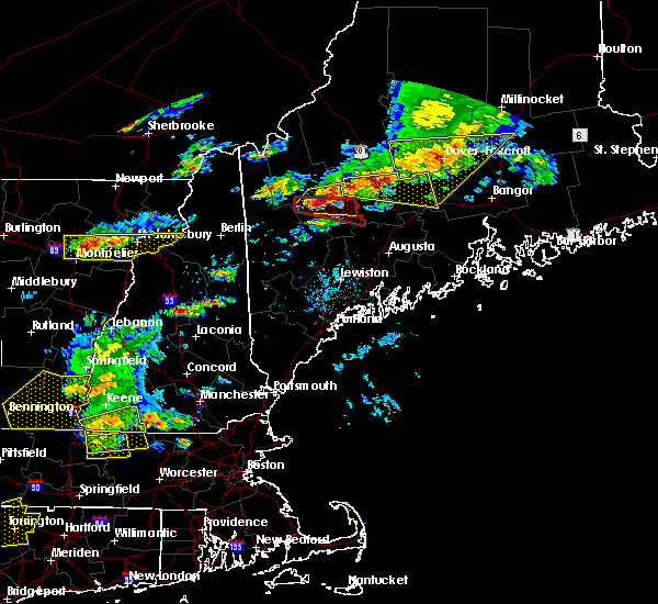 Radar Image for Severe Thunderstorms near Milo, ME at 7/18/2016 2:38 PM EDT