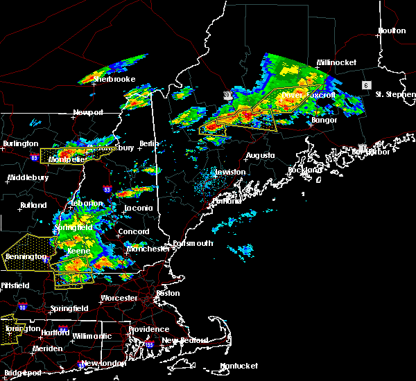 Radar Image for Severe Thunderstorms near Hartland, ME at 7/18/2016 2:47 PM EDT