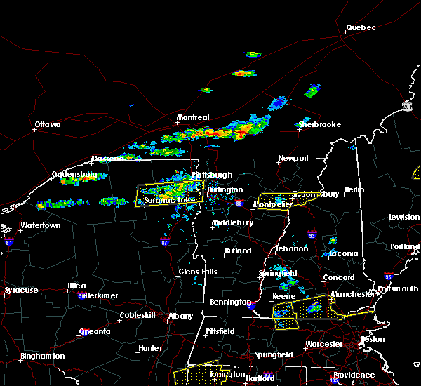 Radar Image for Severe Thunderstorms near Au Sable Forks, NY at 7/18/2016 2:54 PM EDT