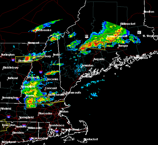 Radar Image for Severe Thunderstorms near Hartland, ME at 7/18/2016 2:56 PM EDT