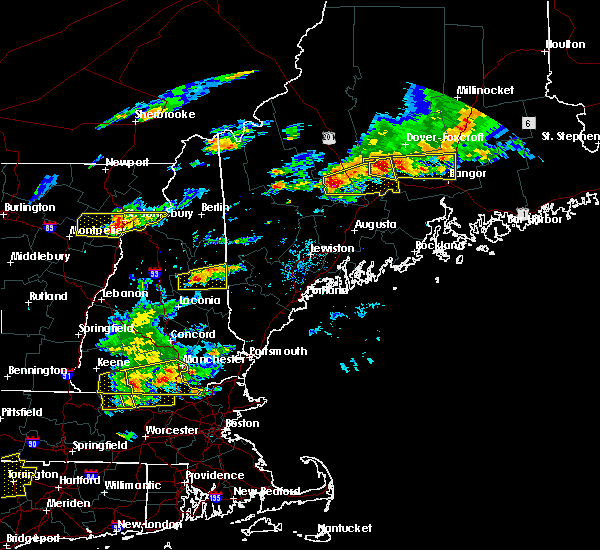 Radar Image for Severe Thunderstorms near Hartland, ME at 7/18/2016 3:05 PM EDT